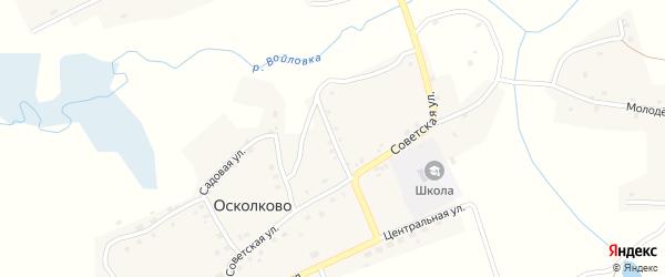 3-й Советский переулок на карте села Осколково с номерами домов
