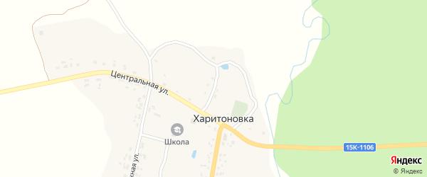 Садовый переулок на карте деревни Харитоновки с номерами домов
