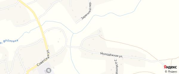 1-й Молодежный переулок на карте села Осколково с номерами домов
