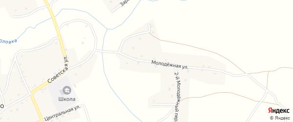 Молодежная улица на карте села Осколково с номерами домов