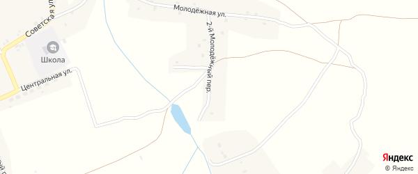 2-й Молодежный переулок на карте села Осколково с номерами домов