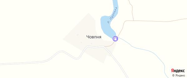 Заозерная улица на карте деревни Човпни с номерами домов