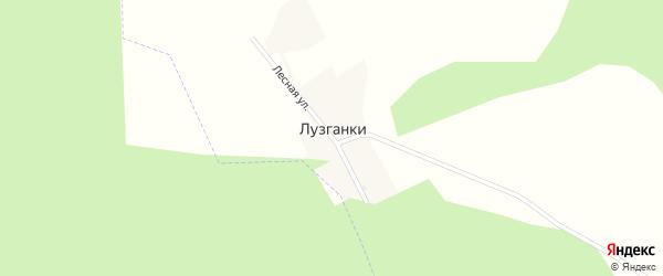 Лесная улица на карте поселка Лузганки с номерами домов