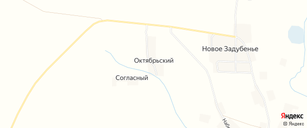 Карта Октябрьского поселка в Брянской области с улицами и номерами домов