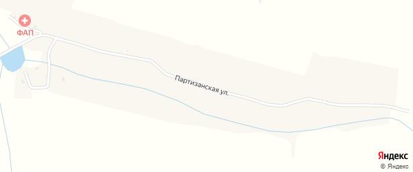 Партизанская улица на карте деревни Попелевки с номерами домов