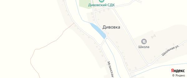 Мглинская улица на карте села Дивовки с номерами домов