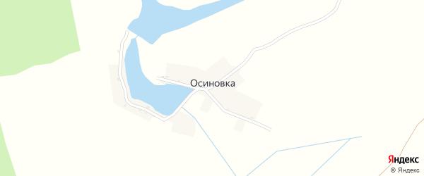 Зеленая улица на карте деревни Осиновки с номерами домов