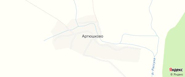 Карта села Артюшково в Брянской области с улицами и номерами домов