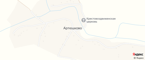 Заречная улица на карте села Артюшково с номерами домов