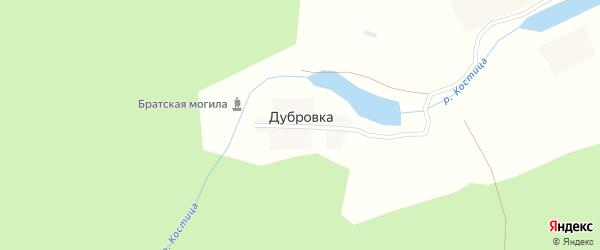 Лесная улица на карте деревни Дубровки с номерами домов