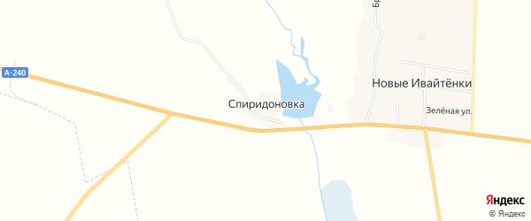 Карта хутора Спиридоновки в Брянской области с улицами и номерами домов