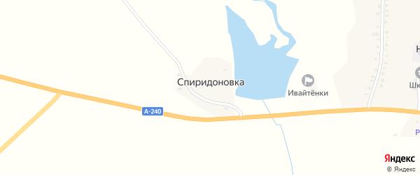 Брянская улица на карте хутора Спиридоновки с номерами домов