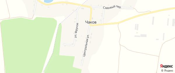 Центральная улица на карте хутора Чакова с номерами домов