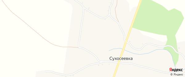 Лозовая улица на карте села Сухосеевки с номерами домов