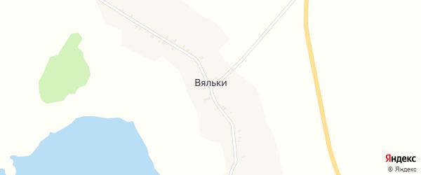 Озерная улица на карте деревни Вяльки с номерами домов