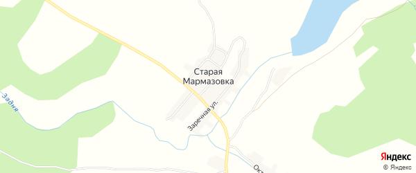 Карта деревни Старой Мармазовки в Брянской области с улицами и номерами домов