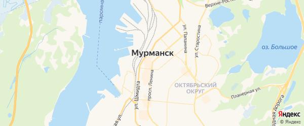 Карта Мурманска с районами, улицами и номерами домов
