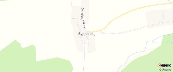 Карта деревни Будвенца в Брянской области с улицами и номерами домов