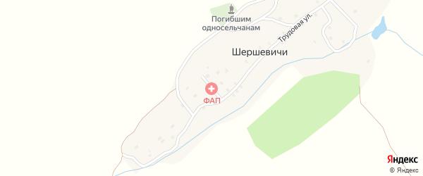 Лесная улица на карте деревни Шершевичи с номерами домов