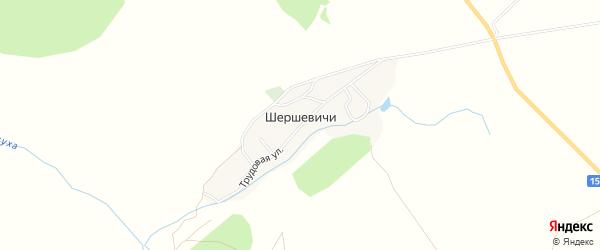 Карта деревни Шершевичи в Брянской области с улицами и номерами домов