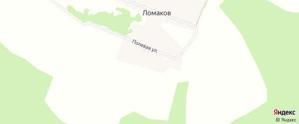 Полевая улица на карте поселка Ломакова с номерами домов