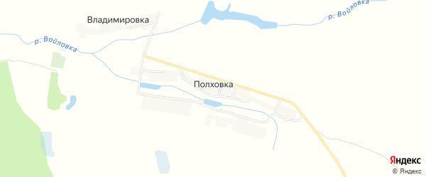 Карта деревни Полховки в Брянской области с улицами и номерами домов