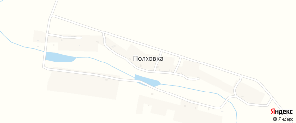 Заречная улица на карте деревни Полховки с номерами домов