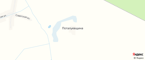 Карта поселка Поталуевщина в Брянской области с улицами и номерами домов