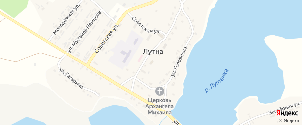 Улица Паи Лесной на карте территории Лутенского сельского поселения с номерами домов