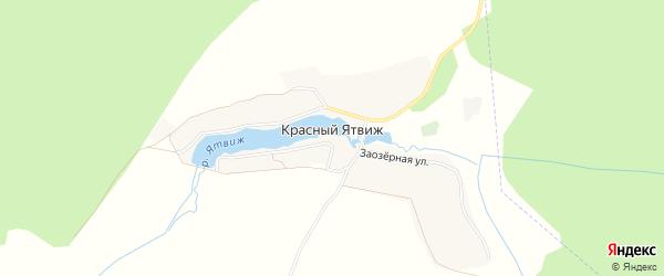Карта деревни Красного Ятвиж в Брянской области с улицами и номерами домов