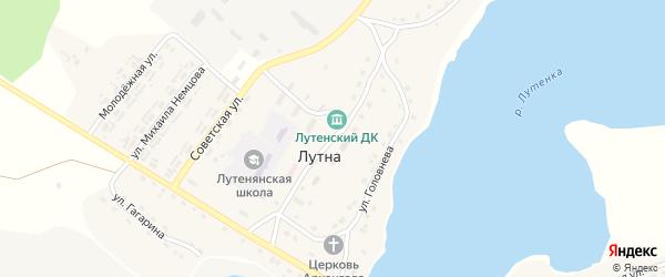 Улица Михаила Раздомахина на карте села Лутны с номерами домов