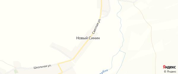 Карта поселка Нового Синина в Брянской области с улицами и номерами домов