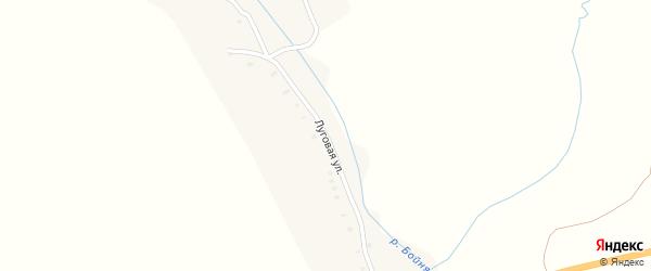 Луговая улица на карте деревни Старые Ивайтенки с номерами домов