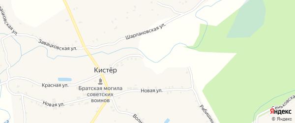 Рябишинская улица на карте села Кистера с номерами домов