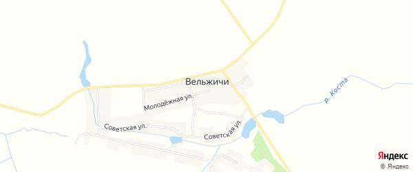 Карта села Вельжичи в Брянской области с улицами и номерами домов