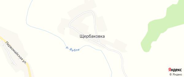 Луговая улица на карте хутора Щербаковки с номерами домов