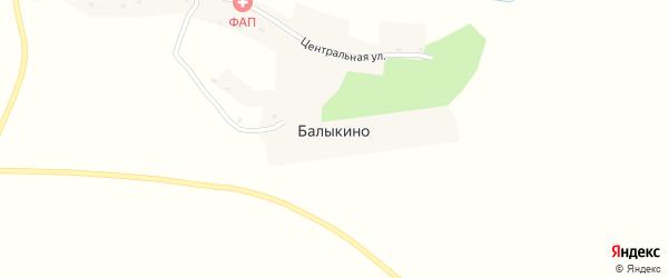 Зеленая улица на карте села Балыкино с номерами домов