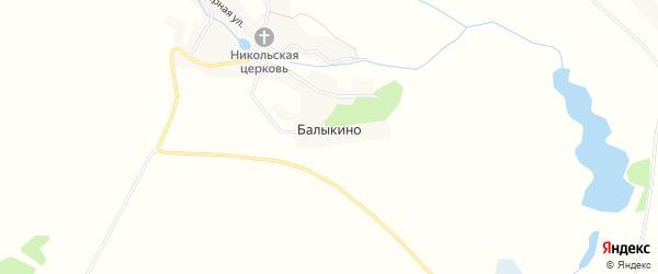 Карта села Балыкино в Брянской области с улицами и номерами домов