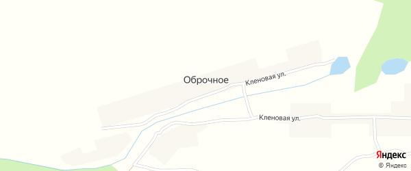 Кленовая улица на карте деревни Оброчного с номерами домов
