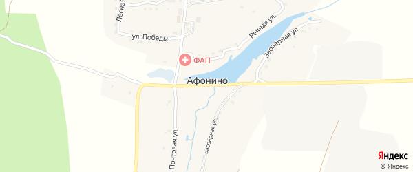 Полевая улица на карте деревни Афонино с номерами домов