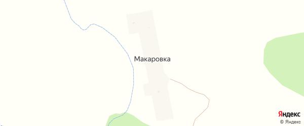 Улица Мира на карте деревни Макаровки с номерами домов
