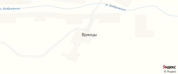 Школьная улица на карте села Врянцы с номерами домов