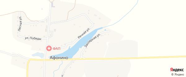 Заозёрная улица на карте деревни Афонино с номерами домов