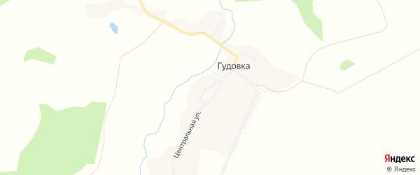 Карта села Гудовки в Брянской области с улицами и номерами домов