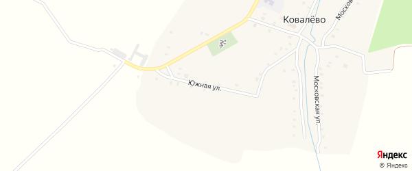 Южная улица на карте села Ковалево с номерами домов