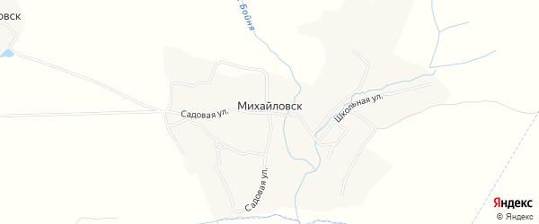 Карта села Михайловска в Брянской области с улицами и номерами домов
