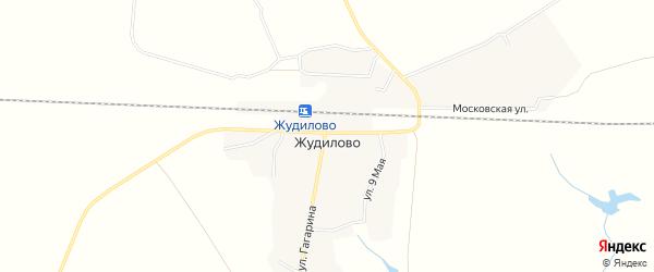 Карта поселка Жудилово в Брянской области с улицами и номерами домов