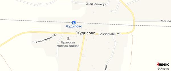 Транспортная улица на карте поселка Жудилово с номерами домов