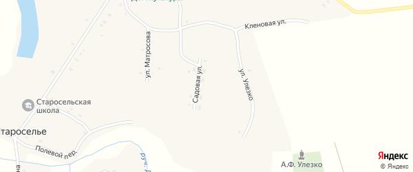 Улица Улезко на карте села Староселья с номерами домов