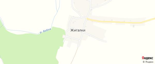 Овражная улица на карте деревни Жигалки с номерами домов